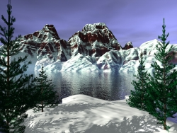 3D and Digital art Wallpaper - Mountain snow