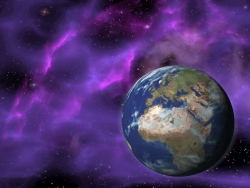 3D and Digital art Wallpaper - Nebula earth