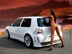 Car Wallpaper - Erotic tuning