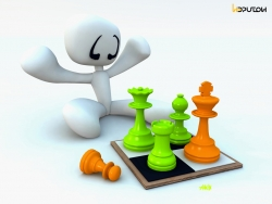 3D and Digital art Wallpaper - Checkmate