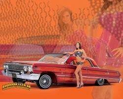Car Wallpaper - Car with sexy girl