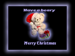 Christmas Wallpaper - Beary merry christmas