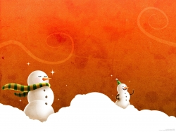 Christmas Wallpaper - Snow man - cool wallpaper