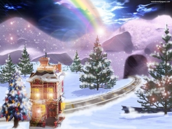 Christmas Wallpaper - Merry Christmas - beautiful scenery