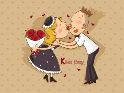 Valentine/Love Wallpaper - Boy & girl