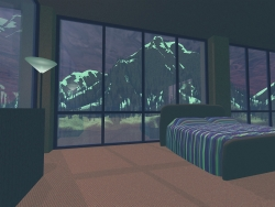3D and Digital art Wallpaper - Bedroom view
