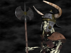 3D and Digital art Wallpaper - Skull warrior