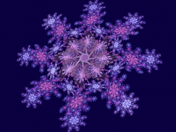 3D and Digital art Wallpaper - Violet snowflake