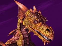 3D and Digital art Wallpaper - Sun dragon