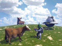 3D and Digital art Wallpaper - Surrender cow
