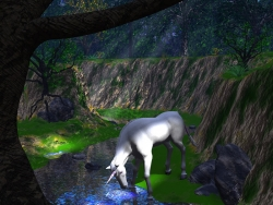 3D and Digital art Wallpaper - Lonely Unicorn