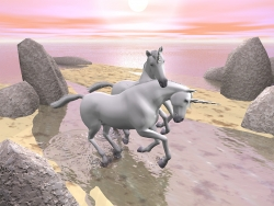 3D and Digital art Wallpaper - Unicorn love