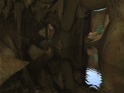 3D and Digital art Wallpaper - Vented cave
