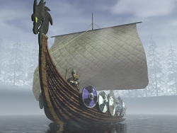 3D and Digital art Wallpaper - Viking ship