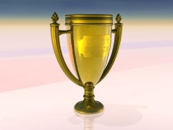 3D and Digital art Wallpaper - Winner cup