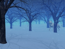 3D and Digital art Wallpaper - Winter eve