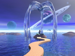 3D and Digital art Wallpaper - Insel fantasy