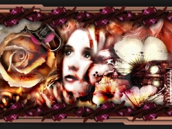 3D and Digital art Wallpaper - Flowers cry
