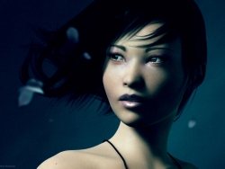 3D and Digital art Wallpaper - 3D mysterious girl