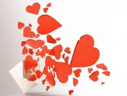 Valentine/Love Wallpaper - Flying hearts !