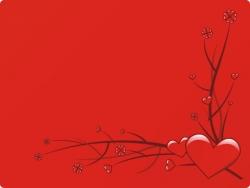 Valentine/Love Wallpaper - Hearts branches